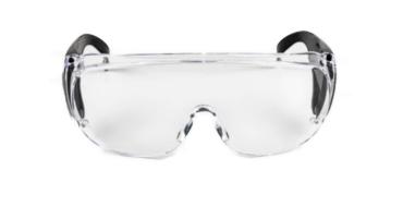 Protector ocular transparente